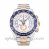 Hombre Rolex Yacht-master Ii 116681 44 MM Caja Movimiento Automático Esfera Blanca