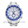 Hombre Rolex Yacht-master Ii 116680 44 MM Caja Movimiento Automático Esfera Blanca