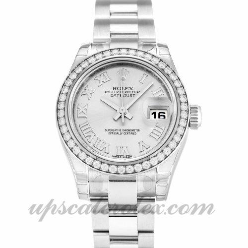 Ladies Rolex Datejust Lady 179384 26 MM Case Automatic Movement Silver Dial
