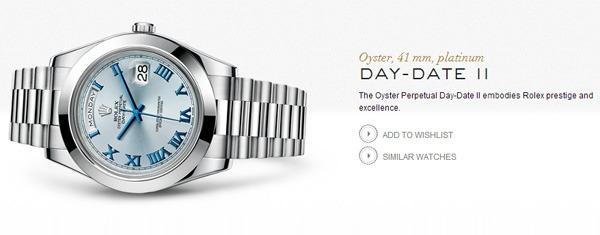 Rolex Day-Date II official website