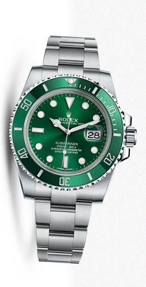 Rolex Submariner green dial green bezel steel