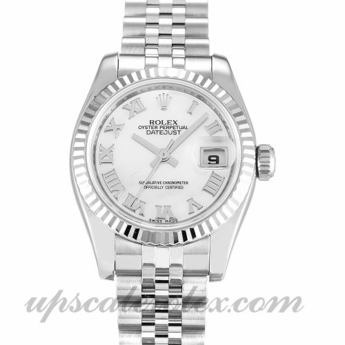 Ladies Rolex Datejust Lady 179174 26 MM Case Automatic Movement Mother of Pearl - White Dial