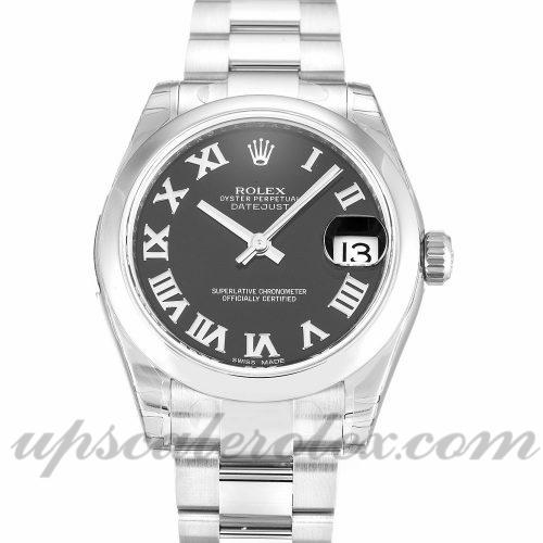 Ladies Rolex Datejust Lady 178240 31 MM Case Automatic Movement Black Dial
