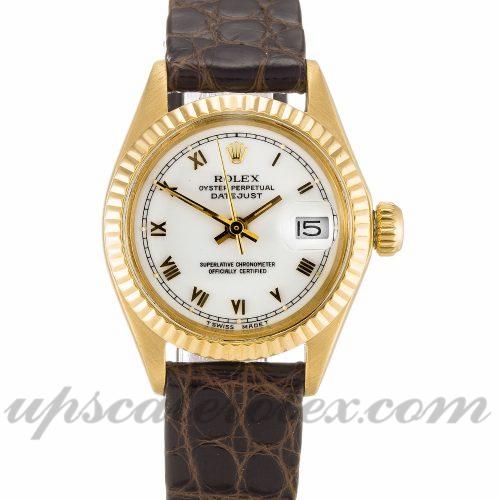 Ladies Rolex Datejust Lady 6916 26 MM Case Automatic Movement White Dial