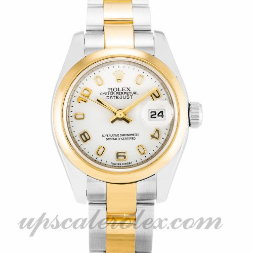 Ladies Rolex Datejust Lady 179163 26 MM Case Automatic Movement White Dial