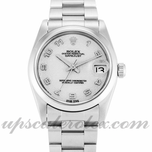 Unisex Rolex Mid-Size Datejust 68240 30 MM Case Automatic Movement Ivory Jubilee Dial