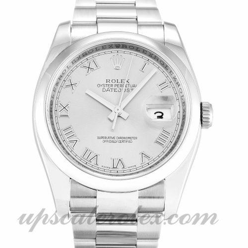 Mens Rolex Datejust 116200 36 MM Case Automatic Movement Silver Dial