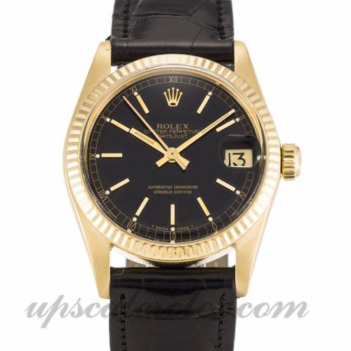 Unisex Rolex Mid-Size Datejust 6827 31 MM Case Automatic Movement Black Dial
