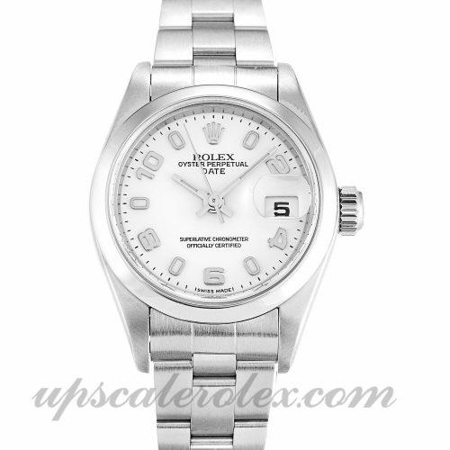 Ladies Rolex Datejust Lady 79160 26 MM Case Automatic Movement White Dial
