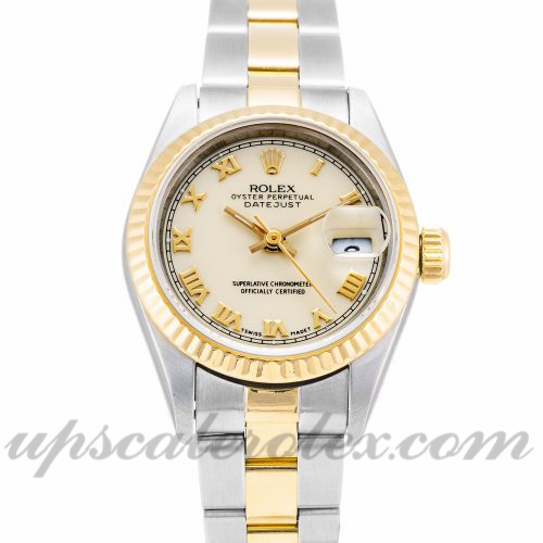 Ladies Rolex Datejust Lady 69173 26 MM Case Automatic Movement Ivory Dial