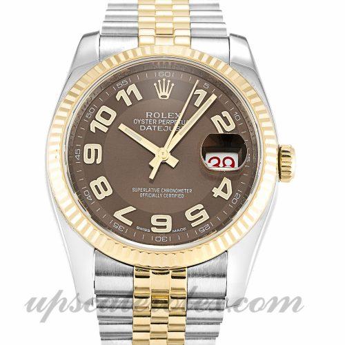 Mens Rolex Datejust 116233 36 MM Case Automatic Movement Bronze Dial