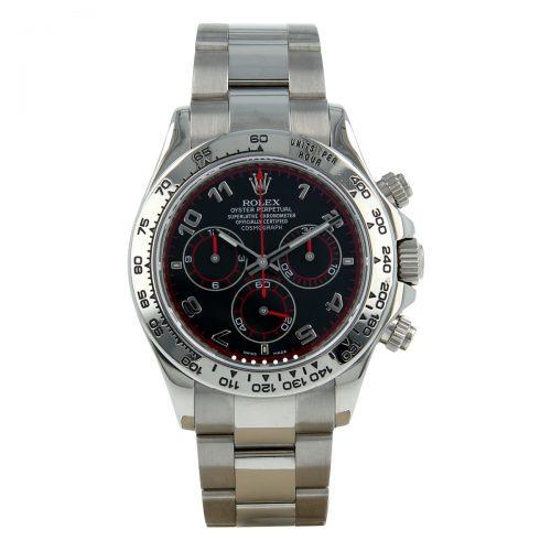 Rolex Daytona 116509 Reloj de zafiro de acero dorado blanco de 40 mm